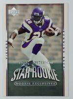 2007 07 Upper Deck Star Rookie Exclusives Adrian Peterson RC #279, Vikings