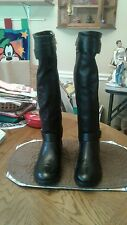 PAIR OF NEW ANN TAYLOR BLACK LEATHER BOOTS