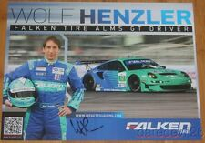 "2012 Wolf Henzler signed Falken Tire ""2nd issued"" Porsche 911 GT3 ALMS postcard"