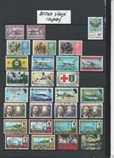 BRITISH VIRGIN IS. QE2 COLLECTION ON 5  PAGES