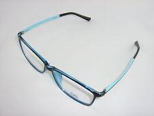 Große Kunststoffbrille Herren ultra leicht blau + incl. Sehstärke + NEU
