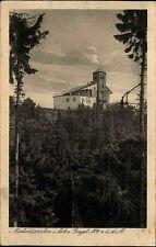 Mückentürmchen böhmisches Erzgebirge Komáří hůrka  s/w AK ~1920/30 gelaufen