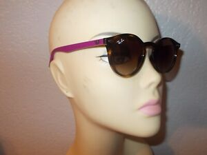 Ray-Ban Jr. RJ 9064S 7041/13 Purple Tortoise Frame Brown Lenses Sunglasses