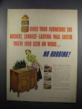 1951 Johnson's Pride Wax Ad - Your Furniture