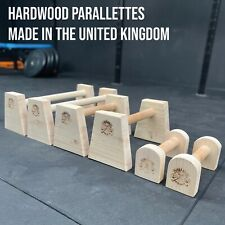 Hard Wood Parallette Bars Calisthenics Crossfit Fitness Gym Hand Made In The UK