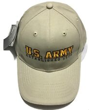 Fire for Effect Embroidered U. S. Army Established 1775 Khaki Ballcap