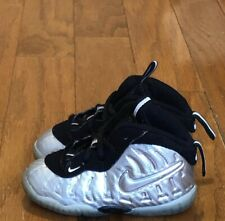 """9bd98ee1aa7 VNDS Condition 2017 Nike Lil Posite Pro TD """"Metallic Silver"""" sz 6c Infant"""