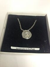 """Nero WE-C6 Roman Coin  Emblem on Silver Platinum Plated Necklace 18"""""""