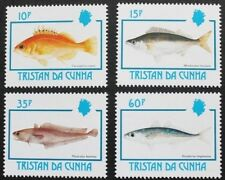 Fishes stamps, 1992, Tristan da Cunha, SG ref: 531-534, 4 stamp set, MNH