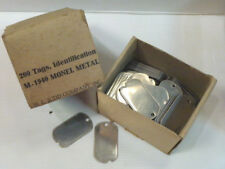 "Lot de 2 plaques US ""Dog Tags"" Original US WW2"