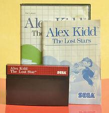 Alex Kidd: The Lost Stars (Sega Master, 1988) Includes Game, Manual and Box