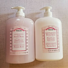 PERLIER Pink Peony Bath & Shower Peonia Rosa, Lotion, Cream or Hand Soap
