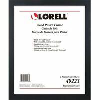 "Lorell Poster Frame, Wall-Mountable, 16""Lx20""H, Black (LLR49223)"