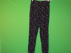 Boden Womens Size US 4R Geometric Blue Sheer Casual Pants