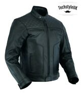 BEST UK Strong Cow Mens Leather Jacket Motor Cycle Motor Biker Touring Genuine