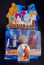 Futurama Toynami I-MEN Collection Figures BENDER/ DEVIL ROBOT minimates size MOC