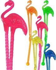 Flamingo Cocktail Drink Stirrers / Swizzle Sticks (18 Supplied)