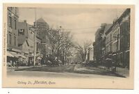 Colony Street View MERIDEN CT Vintage Connecticut Postcard