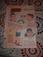 Mirth Quakers Corn Crib Sports stars Comics Phila August 28th 1949 Newspaper