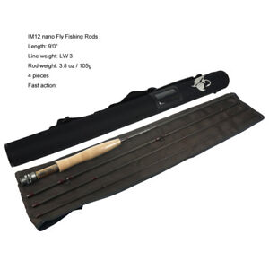 Aventik IM12 Nano 9FT LW3, 4, 5, 6 Fast Action Light Weight Freshwater Fly Rods