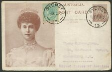 1912 (Jan.11) usage of (H&G.5) 1d KGV Coronation issue, up-rated with ½d NSW
