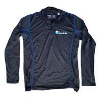Women Black Size Large 1/4 Zip Athletic Running Jacket Windbreaker LESLIE JORDAN