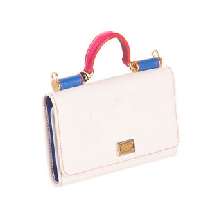 RRP€895 DOLCE & GABBANA Leather Satchel Bag Wallet Top Handle Made in Italy