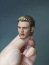 In-stock 1/6 Scale ELITE Steve Rogers Cap America Head Sculpt For Hot toys