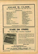 1946 PAPER AD Stars and Stripes Football Board Game Cela Brite Doll Dolls Meg Jo