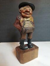 Beautiful Vintage Anri Black Forest Man Wood Carved Figurine
