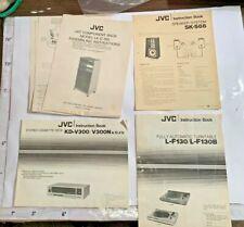 70/80s JVC L-F130 Turntable KD-V300 Cassette SK-S66 Speaker System/Rack Manuals
