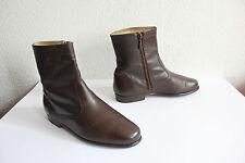 Vintage Salamander Boots Stiefeletten Voll Echtleder Braun Eu:41/UK:7 Germany