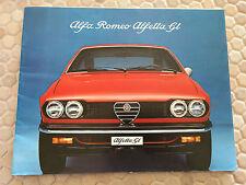ALFA ROMEO ALFETTA GT PRESTIGE BROCHURE USA EDITION