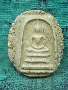 Phra Somdej Toh Not Cut Edge Wat Rakang Talisman Old Thai Buddha Amulet