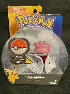 Pokemon Throw 'N' Pop Ditto + Poke Ball TOMY New in Package