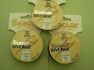 Seaguar Riverge 100% Fluorocarbon Tippet 5lb 7.5lb or 9lb 30yds