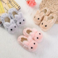 Toddler Infant Kids Baby Girls Boys Warm Shoes Cute Cartoon Soft-Soled Slippers