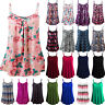 Plus Size Womens Summer Strappy Tank Shirt Blouse Cami Tunic Casual Loose Tops