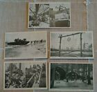 Lot 5 Vintage US Navy Naval SEABEES Construction Battalion POSTCARDS Camp Peary