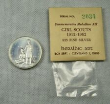 New Listing1962 Heraldic Art Girl Scouts Sterling Silver Medal