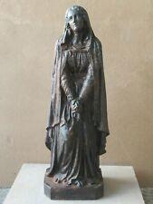 Grande statue Sainte Vierge éplorée , Mater dolorosa , en fonte XIXème siècle