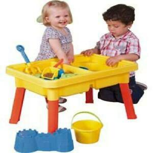 """Sun  Fun 23""""Sandbox Castle 2-In-1 Sand And Water Table Beach Play Set For Kids"""