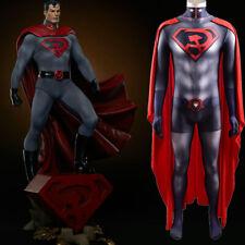 Superman Red Son V2 Jumpsuit Superhero Bodysuit Cosplay Costume For Adult & Kids