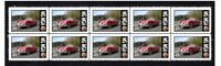 MG MGA AUTO ICONS STRIP OF 10 MINT VIGNETTE STAMPS #1