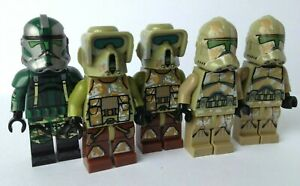 Clone Trooper Commander Gree With Kashyyyk And Elite Corps Troopers Non-lego