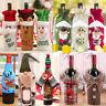 2018 Christmas Santa Wine Bottle Gift Bag Ornaments Cover Xmas Home Party Decor