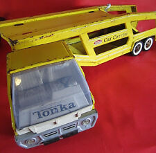 Vintage 1965-67 Yellow Tonka Steel Car Carrier 840
