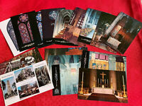 Lot Of 16 New York NY NYC St John the Divine Cathedral Postcards  Old Vintage