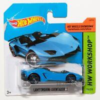 Lamborghini Aventador J blue, 2014 Hot Wheels scale 1:64, rare collectable gift