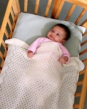 BEAUTIFUL TULLE LACE BABY BLANKET by EUGEN BEUGLER FIBER TRENDS